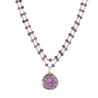 Touch Of Purple Amethyst Necklace