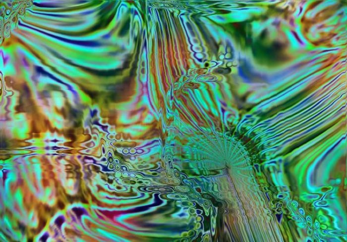 abstract image with greens and other colors