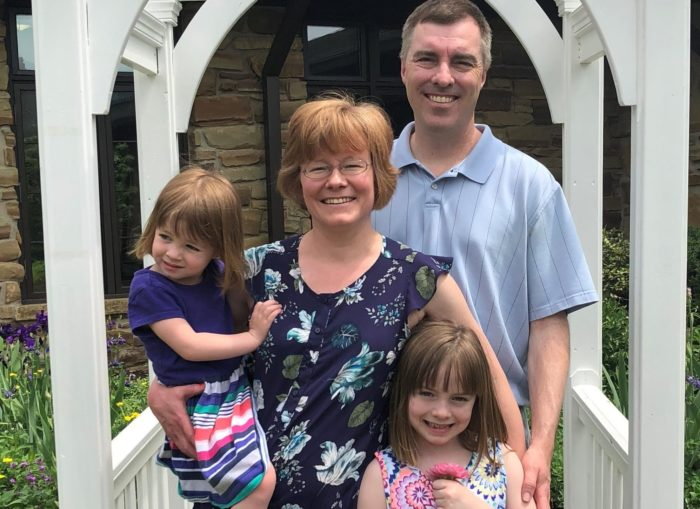 Pancreatic cancer patient Malcolm Robertson and his family