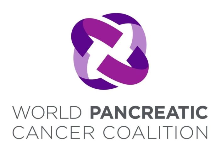 World Pancreatic Cancer Coalition logo in shades of purple