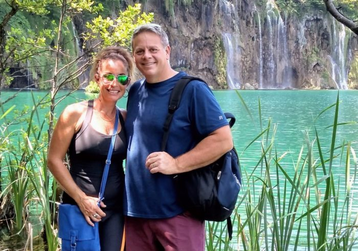 pancreatic cancer patient Jason McMurtrie and his wife in Croatia