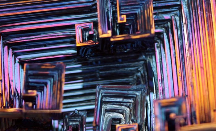 photo of the mineral bismuth