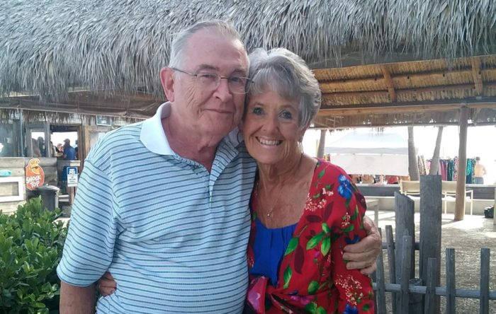 Pancreatic cancer patient Virginia Wetcher and her husband