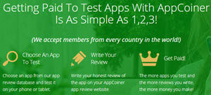 app coiner's 3 step process