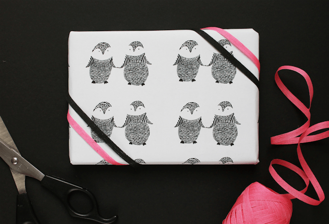 Free Printable Penguin Wrapping Paper