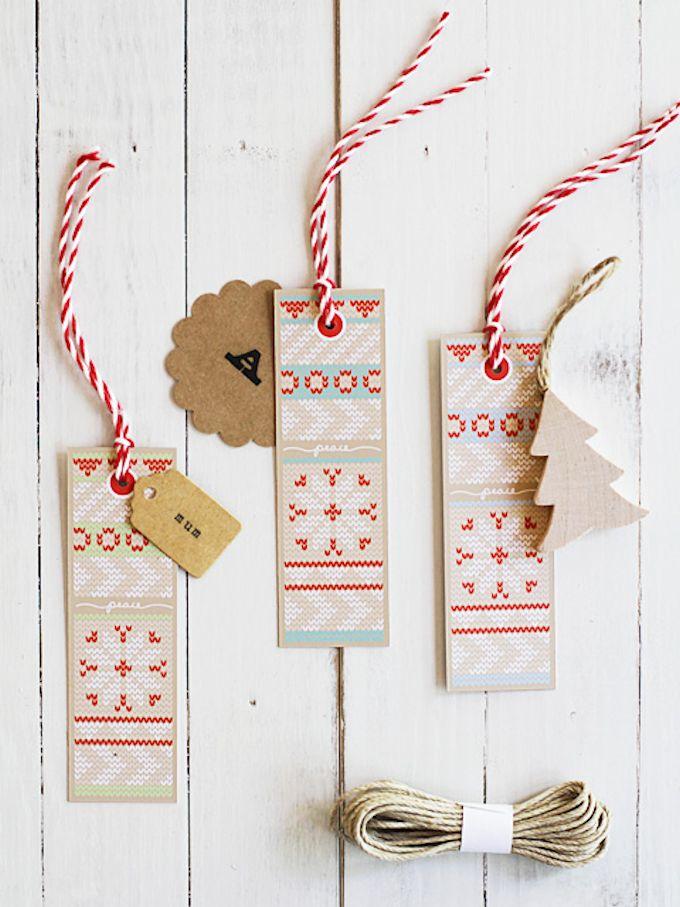 printable knit christmas gift tags