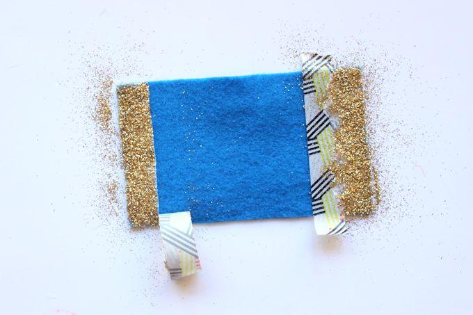 step 2 - glittery felt bows