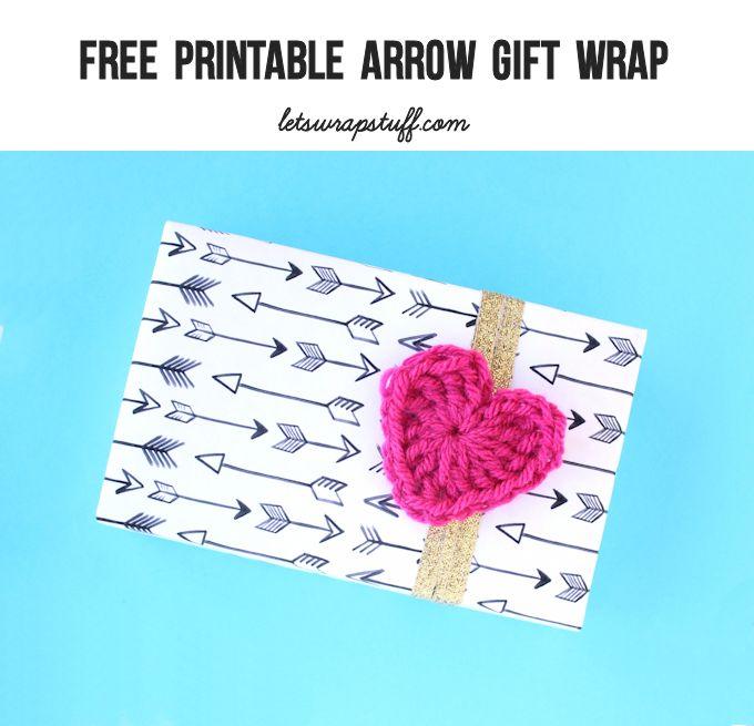 free printable arrow gift wrap