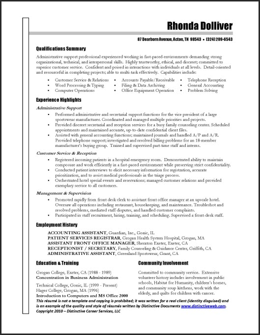 Simple Professional Resume – Sample Resume for It Professionals