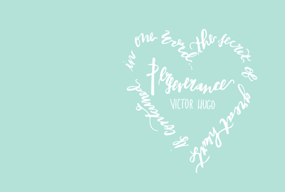 Image of Victor Hugo Lettered Quote