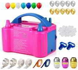 160 Pcs Balloon Pump KINBON Electric Portable Dual Nozzle Electric Balloon Inflator