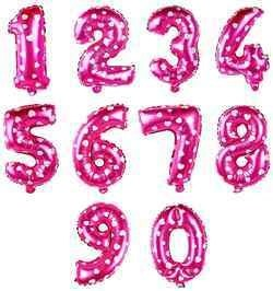 16 Inch Pink Number Balloons