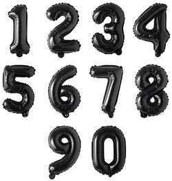 16 Inch Black Number Balloons