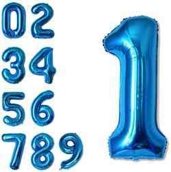40 Inch Blue Number Balloons