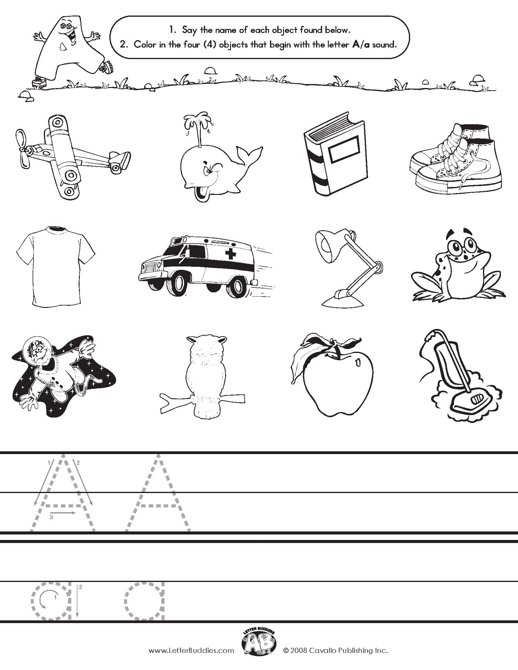 Initial Sounds Amp Coloring Worksheets