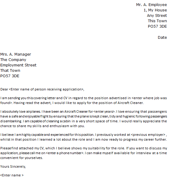 cover letter security ditrio - Cleaner Cover Letter
