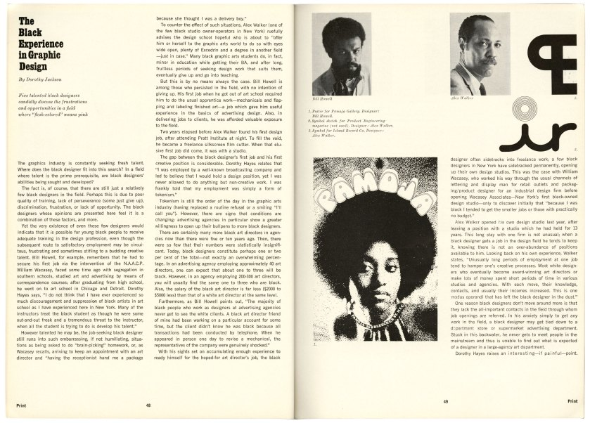 Print, The Black Experience in Graphic Design, 1968.