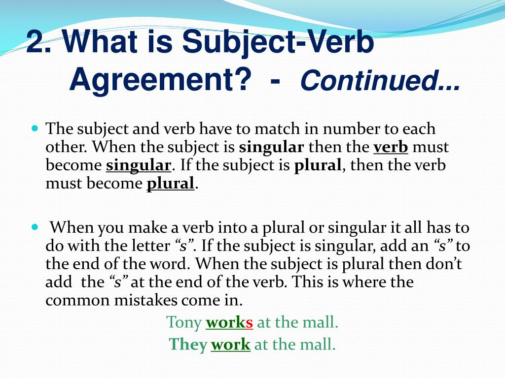 32 Inspired Photo Of Define Subject Verb Agreement