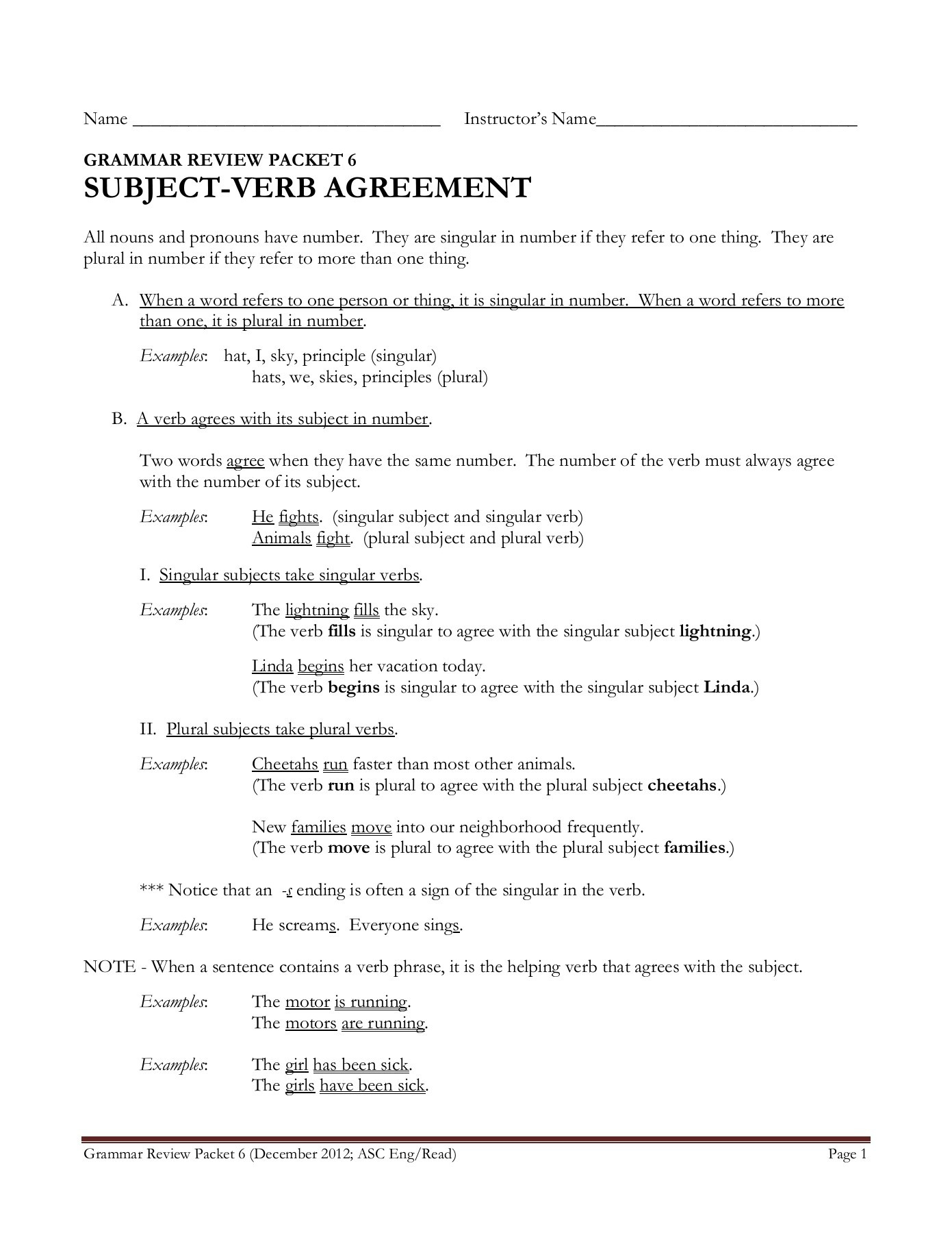 32 Brilliant Picture Of Subject Verb Agreement