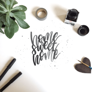 home sweet home - lettering by martina johanna