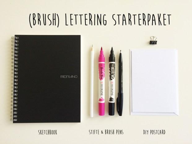 brush lettering starterpaket