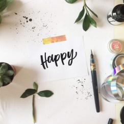 """happy"" hand-lettering by martina johanna"