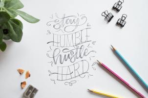 Lettering Tipps: Bleistift first!