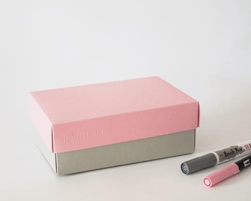 BUNTBOX Farbkombination Zart: Platin + Flamingo