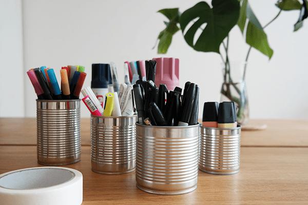 DIY Stiftebecher aus Konservendosen