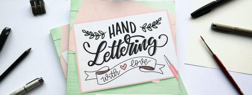 """Das Buch """"handlettering with love"""" hand lettering mit Liebe vom emf verlag mit Martina Johanna"""