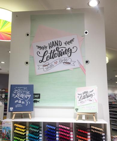 """Das Buch """"handlettering with love"""" hand lettering mit Liebe vom emf verlag mit Martina Johanna im Idee Creative Markt in Bremen"""