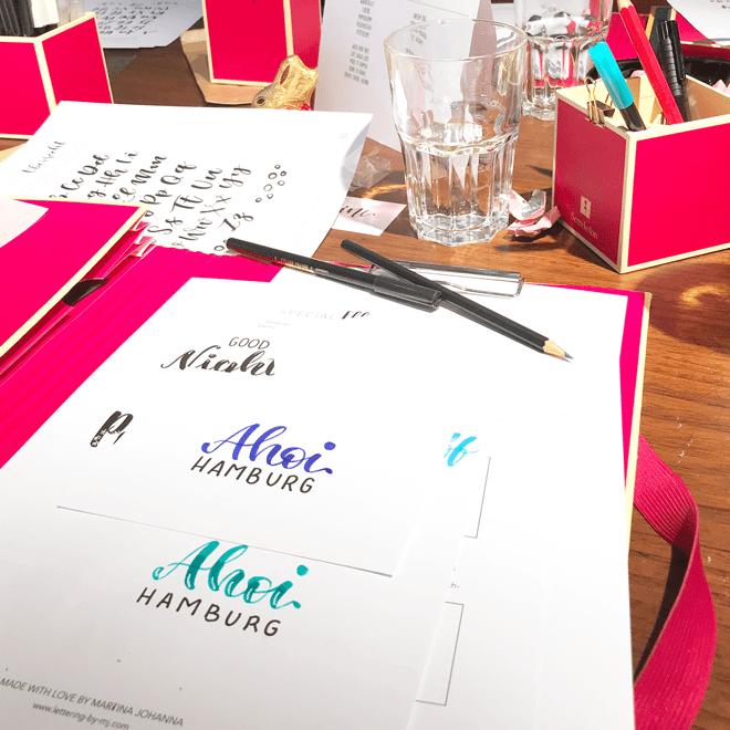 Brush Lettering Workshop, Bremen, Hamburg, Martina Johanna, Brushlettering, DIY Lettering, DIY Workshops