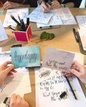 Bilder vom Workshop Event Hand lettering Workshop in Hamburg.
