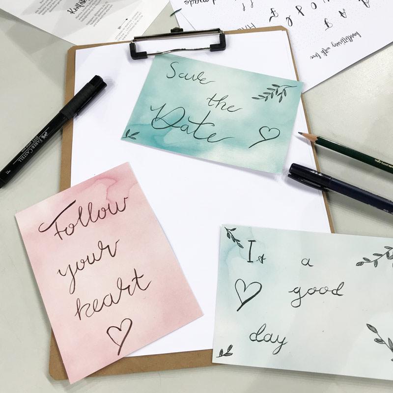 Kreativzeit Bremen, Lettering Workshop, Schnupperkurs in Bremen, Brush Lettering Schnupperkurs