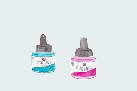 ecoline wasserfarbe -- - Lettering Material Empfehlungen. Liebslingswerkzeuge Lettering