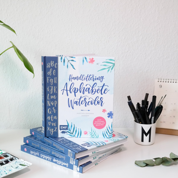 """Mein Buch """"Handlettering Alphabete Watercolor"""" - Das Lettering Buch by Martina Johanna, Lettering by mj"""