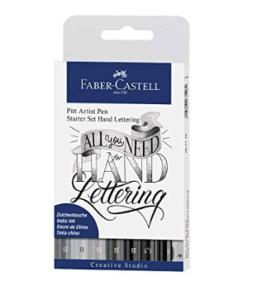 Faber-Castell - Lettering Starter Set, 8er Etui