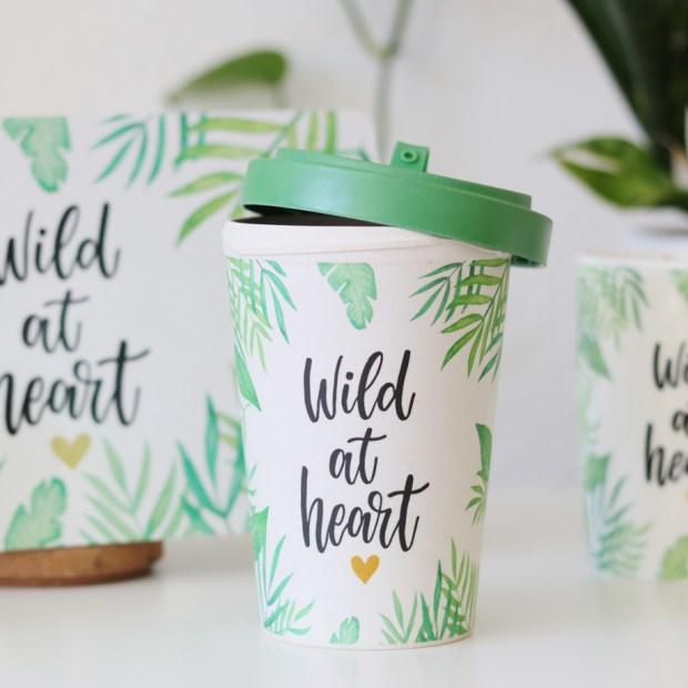 Wild at heart Bambusbecher // Geschenkartikel von Design@home