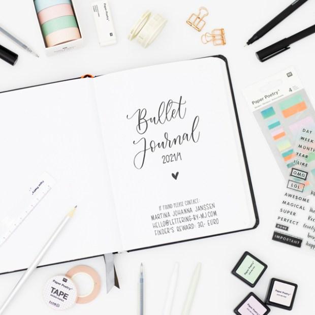 Bullet Journal Startseite