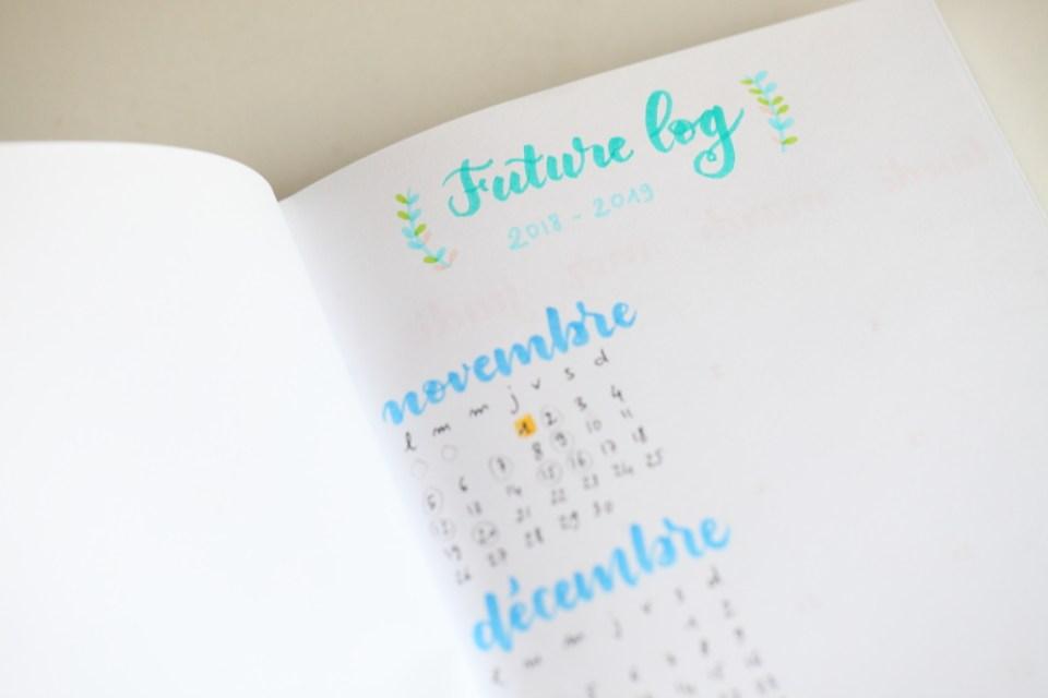 Future Log en lettering