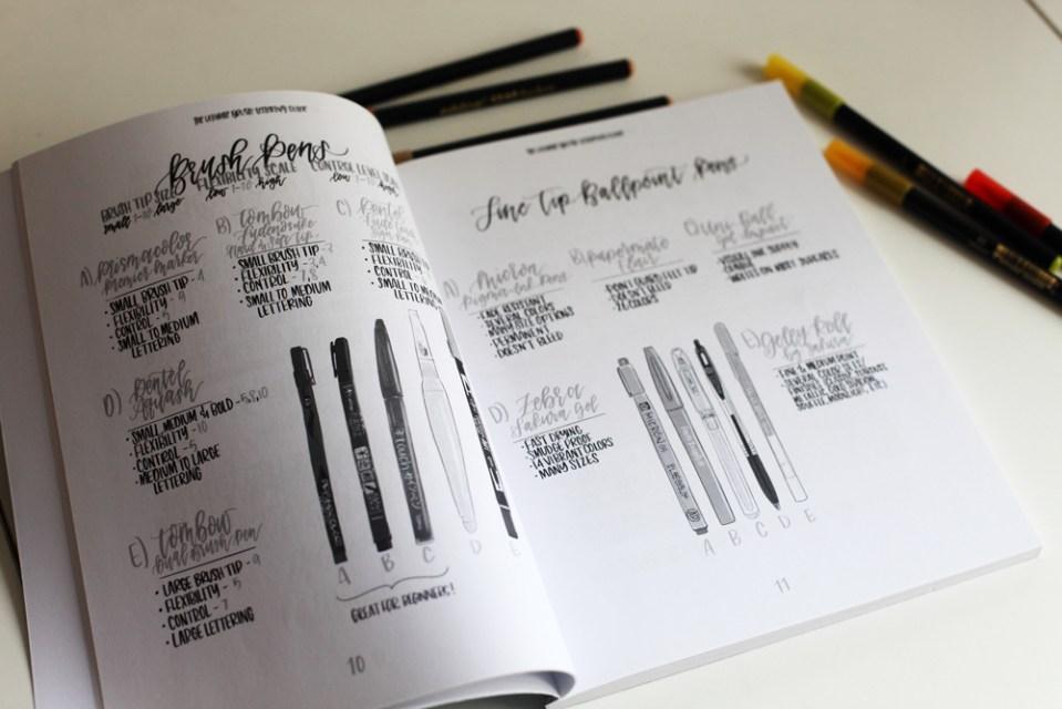 matériel brush lettering