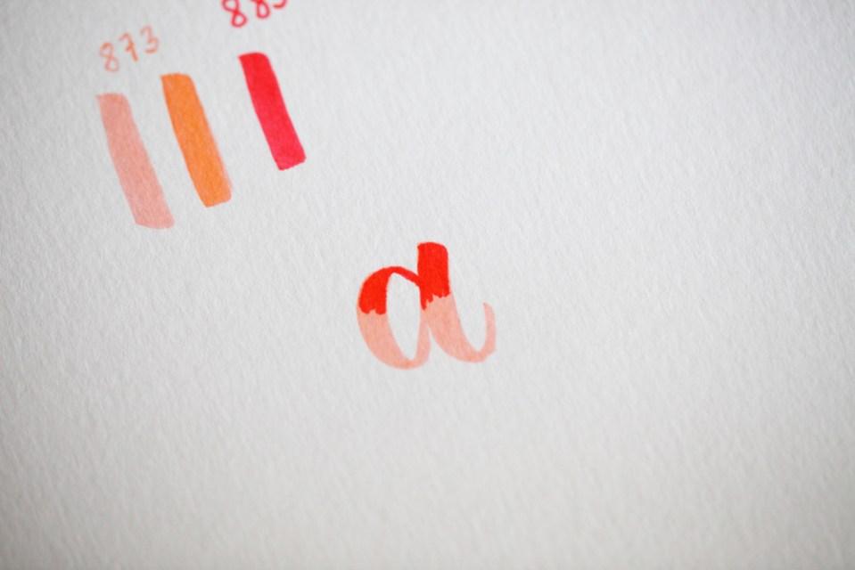 """pas à pas de blending sur la lettre """"a"""" (2/4)"""