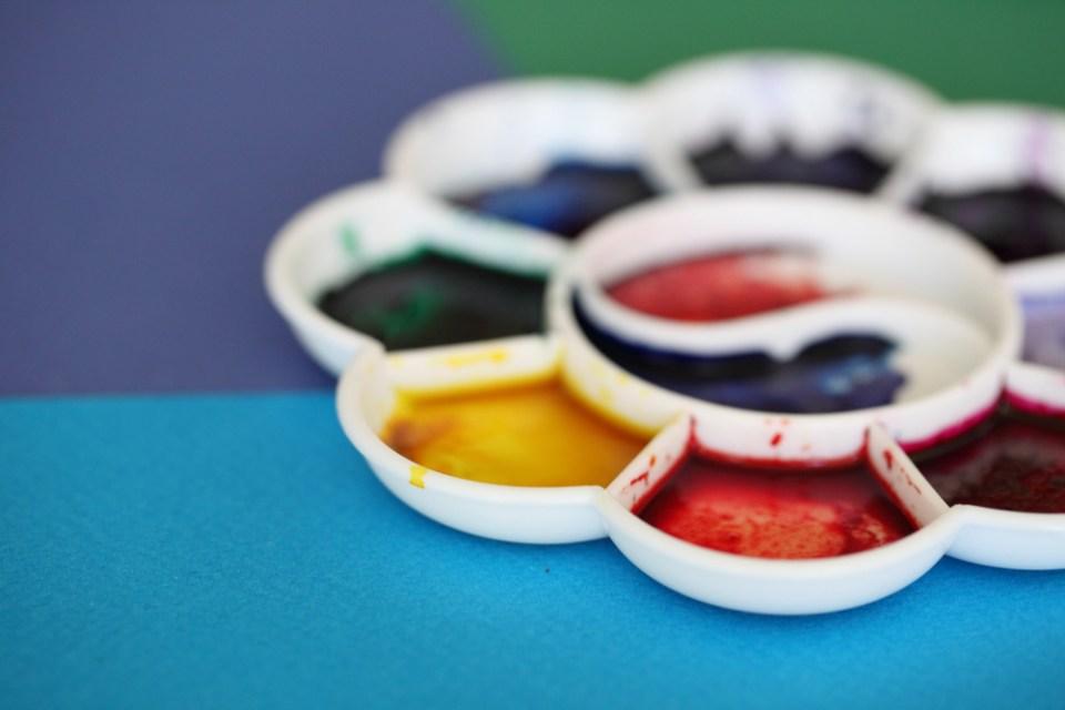 palette d'encres aquarelles Ecoline