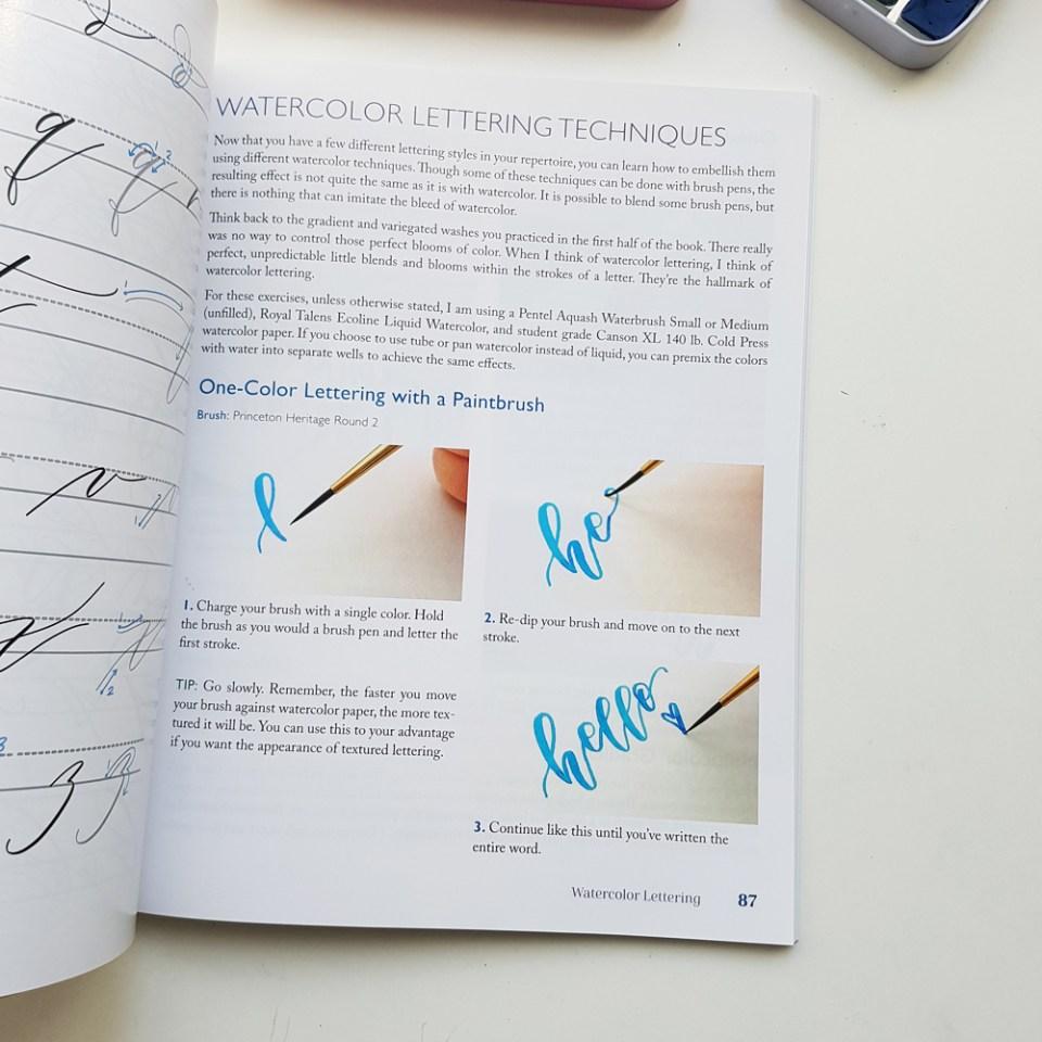 comment écrire en lettering avec de l'aquarelle
