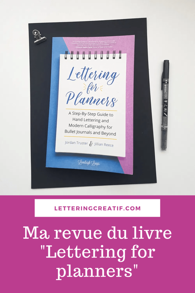 "épingle Pinterest pour la revue du livre ""Lettering for planners"" Loveleigh Loops"