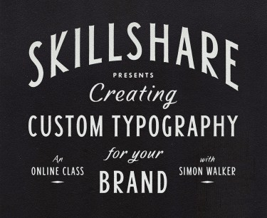 skillshare simon walker lettering tutorial