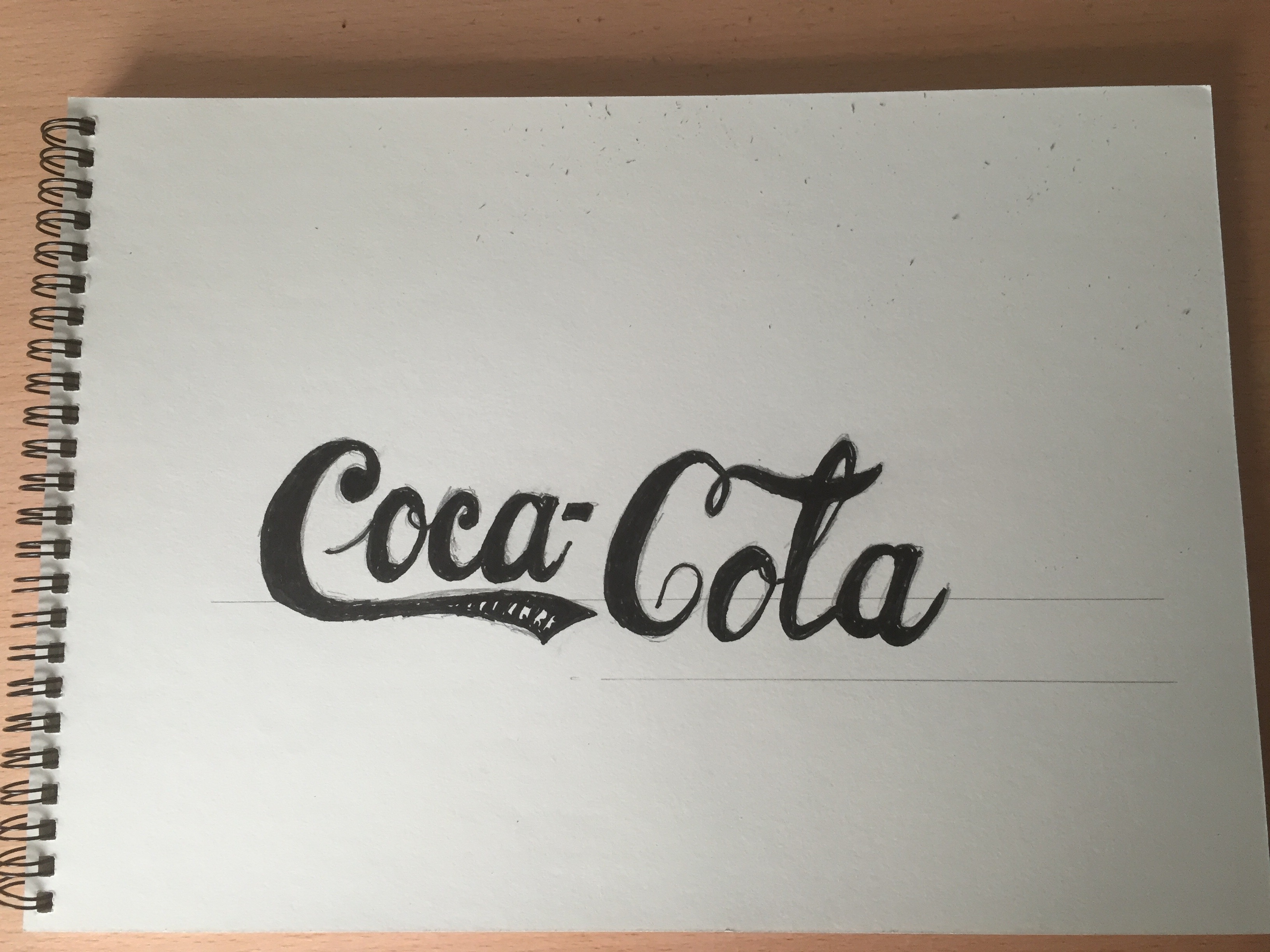 Coke Cola Logo 1887 - Lettering Tutorial