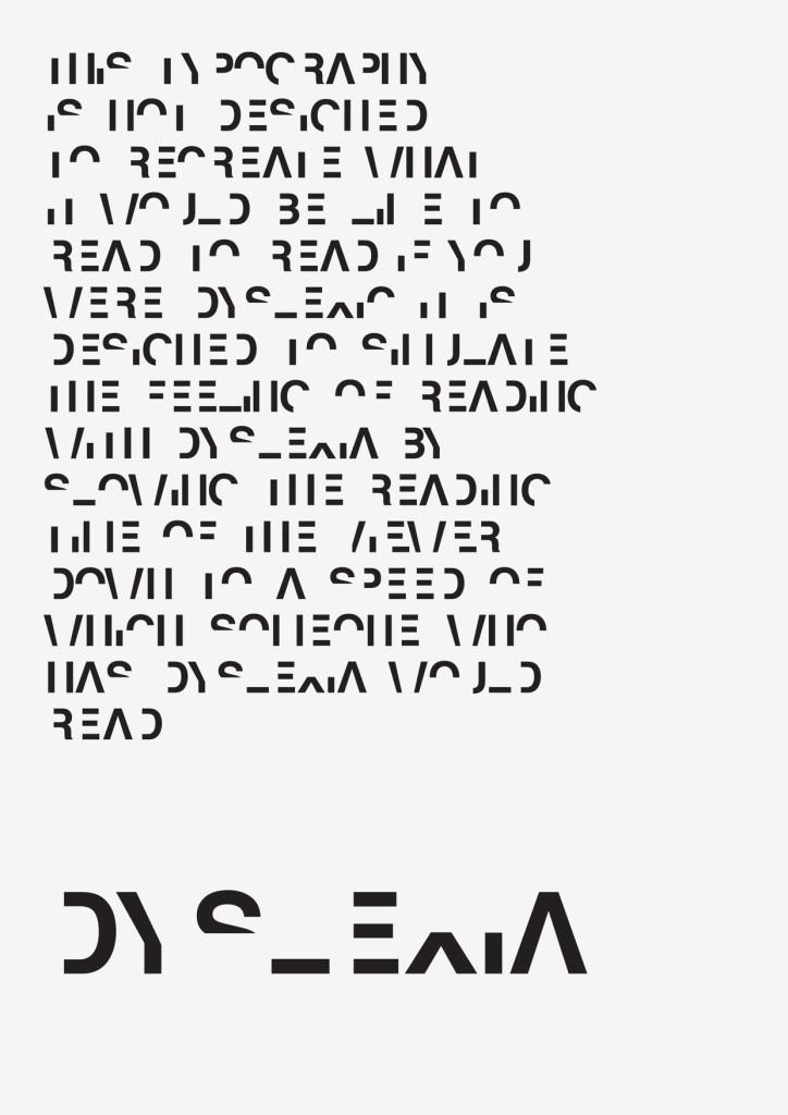 Daniel Britton Dyslexia Font Poster