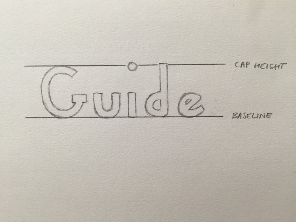 Hand Lettering Guide Cap Height