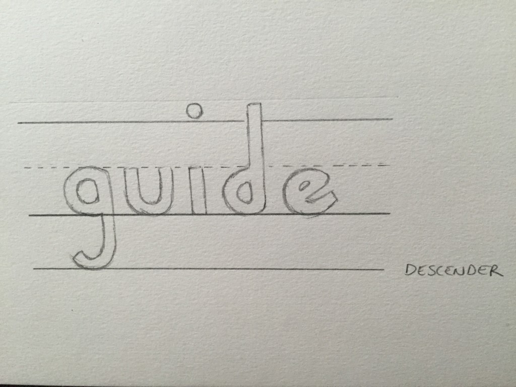 Hand Lettering Guide Descender